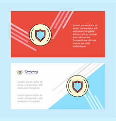 Protected sheild abstract corporate business vector