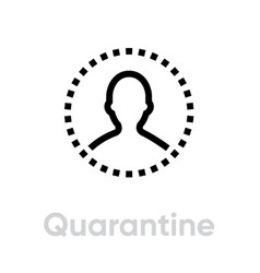 Quarantine protection measures icon editable line vector