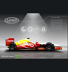 Racing car template vector