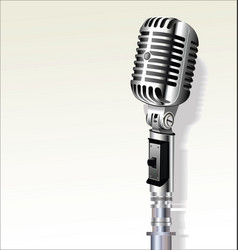 Retro vintage microphone background 6 vector