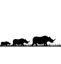 Rhino family vector