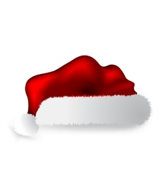 Santa Claus cap isolated over white background vector image
