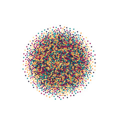 Scattered motley confetti white background vector