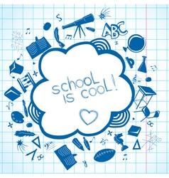School accessories background vector image