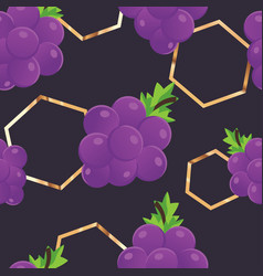 seamless grapes background vector image