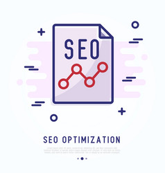seo optimization thin line icon vector image