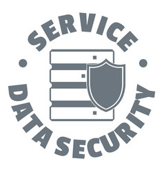 service data security logo simple style vector image