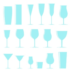 Shining glasses vector