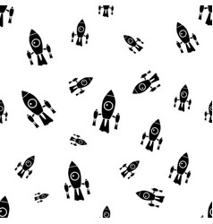 space background for kids spaceship seamless vector image