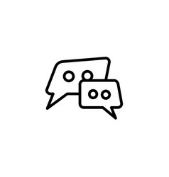 speech bubble line icon in flat style for apps ui vector image