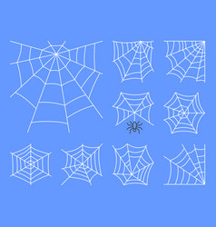 spider web thin line icon set editable stroke vector image