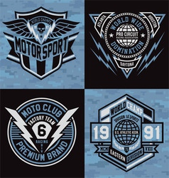 Sports emblem graphics vector image