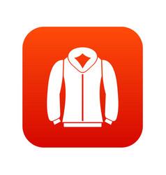 Sweatshirt icon digital red vector