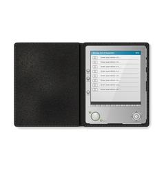 Touchscreen diary vector