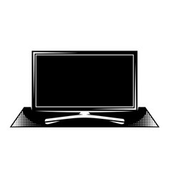 tv panel on pedestal monochrome vector image