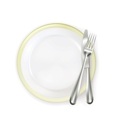 Dinner place setting vector image