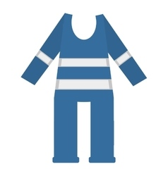 Protective blue suit reflecting strips vector