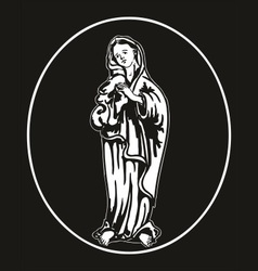 virgin Mary vector image vector image