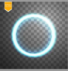 blue round shining circle frame isolated on vector image
