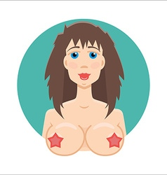 Online sex icon XXX icon Whore or hooker icon vector image