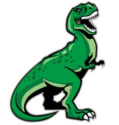 trex dinosaur vector image vector image