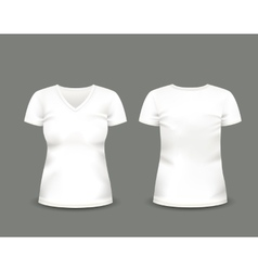 White v-neck t-shirt template vector