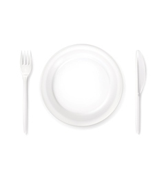 Dinner place setting vector image vector image