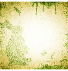 Easter Grunge Background vector image