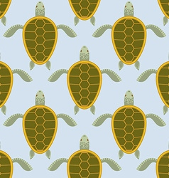 Flock of sea turtles Water turtle seamless pattern vector image vector image