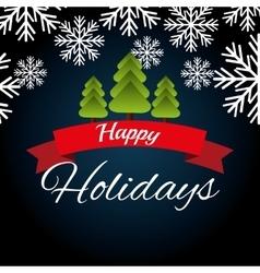 Happy holidays christmas design vector image