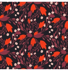Organic floral pattern in rich warm colors vector image