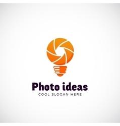 Photo Ideas Abstract Logo Template Shutter vector image