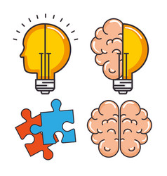 creative mind set icons vector image