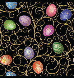 Easter seamless vector image vector image
