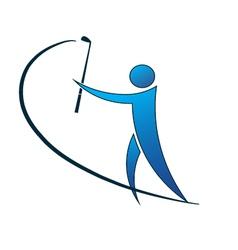 golfer logo vector image vector image