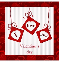 Valentines card - I love you vector image vector image