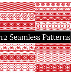 12 nordic style patterns inspired by scan vector image