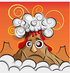 a volcano erupting vector image