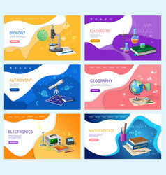 Astronomy and chemistry biology and mathematics vector