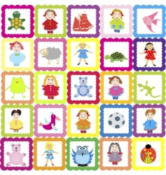 baby background vector image vector image
