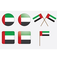 badges with the United Arab Emirates flag vector image