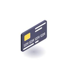 bank card icon symbol vector image