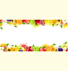 banner with juicy fruit vector image
