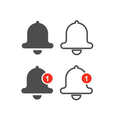 Bell line icons vector