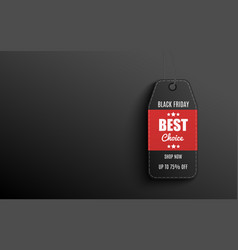 best choice - black and red price tag with big vector image