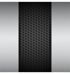 brushed metal panels on black mesh vector image vector image