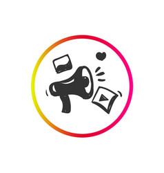Campaign icon loudspeaker pictograph vector