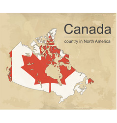 canada map with provinces and flag vector image