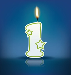 Candle letter l with flame vector