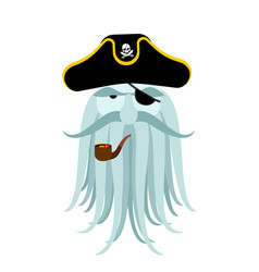 captain pirates ghost mythical angry boss vector image